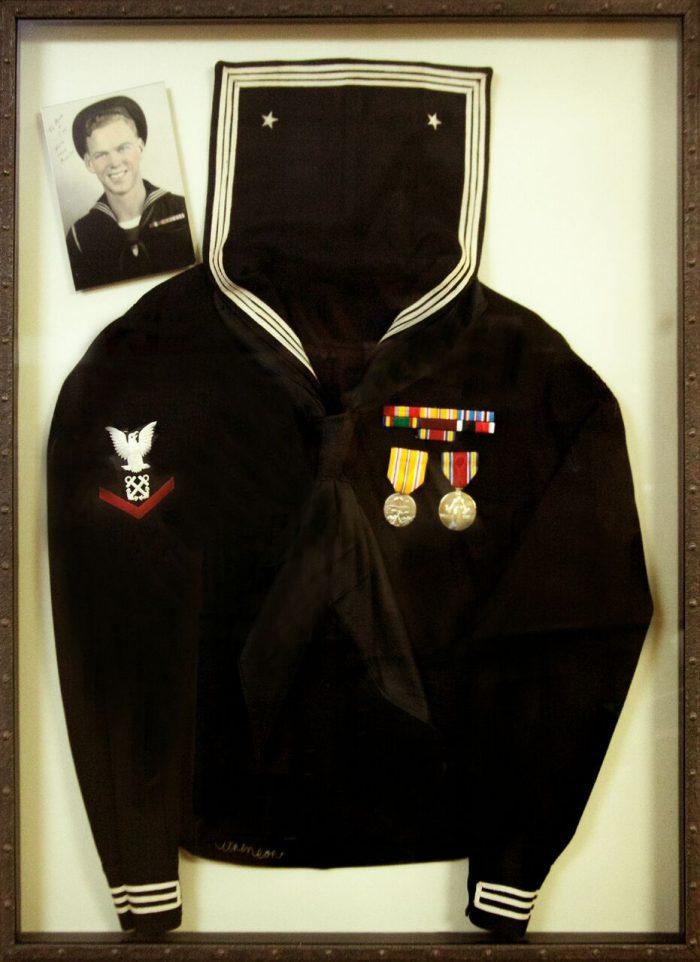 WWII uniform frame