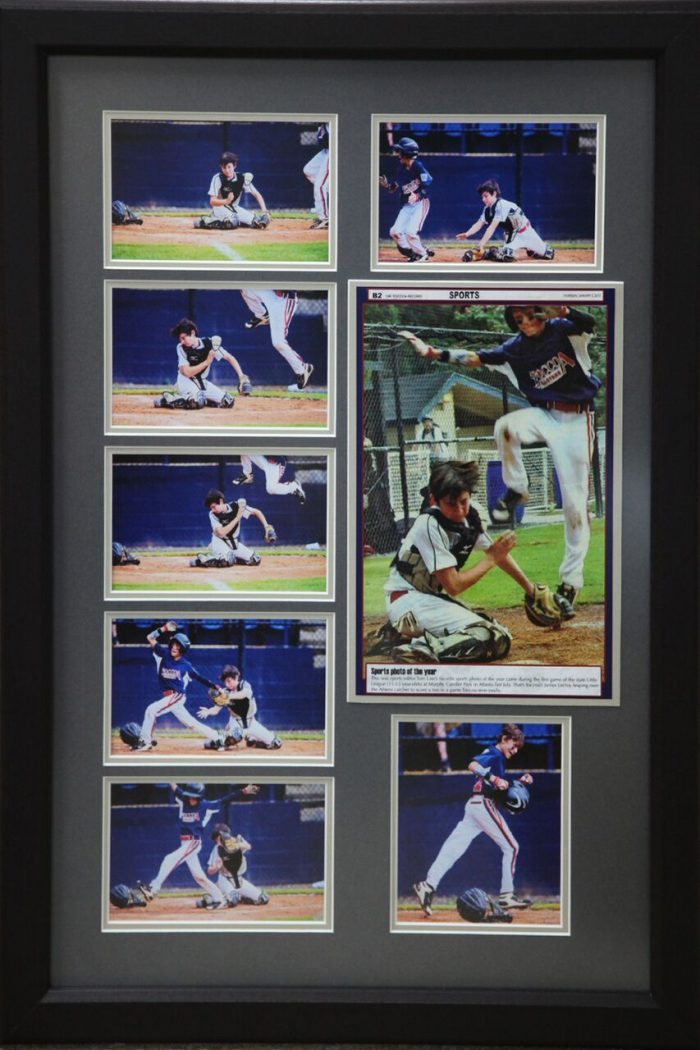 baseball collage frame