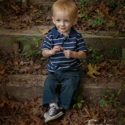 Child portrait on steps